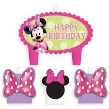 minnie mouse birthday minnie mouse birthday candle set shopdisney