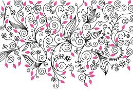 Decorative Flowers by Decorative Flower Swirls Ppt Backgrounds Black Border U0026 Frames