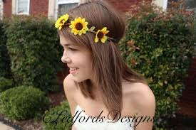 sunflower headband sunflower flower crown sunflower headband wedding