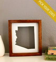 custom framed state cutout gifts customizable home gifts