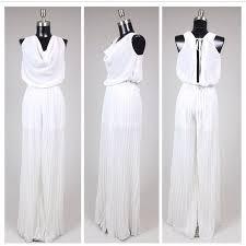 white formal jumpsuit 33 dresses skirts white formal romper jumpsuit from
