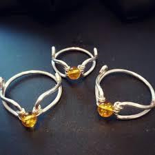 harry potter inspired engagement ring golden snitch inspired citrine ring promise ring engagement