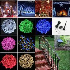 100 outdoor solar led string lights 100 led 10m outdoor solar power led string lights fairy holiday