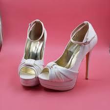 ivory satin wedding shoes ivory satin wedding shoes peep toe ankle straps platform