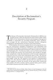 bureau service national 2 description of reclamation s security program assessment of the