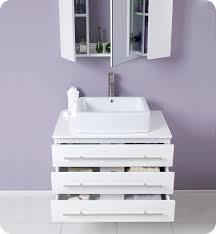 Modern Bathroom Cabinet by 32 U201d Fresca Modello Fvn6183wh White Modern Bathroom Vanity W