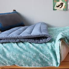 Teal Single Duvet Cover Floral Light Teal Single Duvet Cover By Camomile London