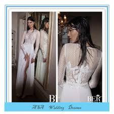 latest modern high quality mermaid wedding dress side slit