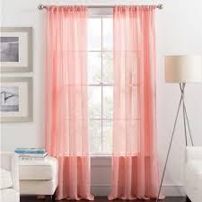 sheer coral curtains curtains wall decor