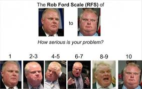 Rob Ford Meme - the rob ford scale of how serious is your problem memes and comics