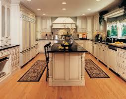 kitchen island with raised bar kitchen kraftmaid kitchen islands quartersawn cherry cabinetry in