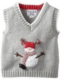kitestrings baby boys newborn snowman sweater vest graphite 3 6