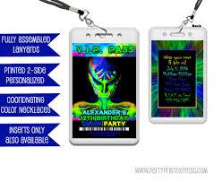 glow vip pass invitation lanyards rave invitation