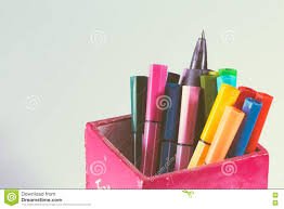 writing paper with space for picture multicolored of magic colors colours for paint or draw on paper background
