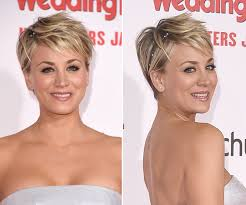 why kaley cucoo cut her hair kaley cuoco s makeup at the wedding ringer premiere pretty