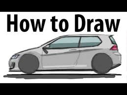 how to draw a volkswagen golf gti sketch it quick youtube