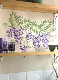 Beautiful Purple Motifs Small Wisteria Theme Pack Stencil Henny Donovan Motif