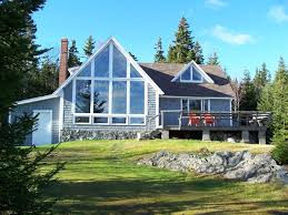 chalet style house east bold coast oceanfront chalet style maine me modern house