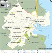 map of tasmania australia hobart map city map of hobart australia