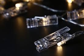 usb led photo clip string lights 10 leds warm white as decorative