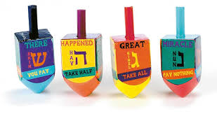 large dreidel hanukkah gift large colorful wooden dreidel set of 4
