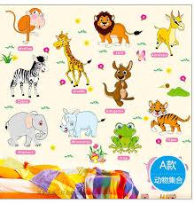stickers animaux chambre b 100 pcs jungle animaux stickers muraux pour enfants chambres safari