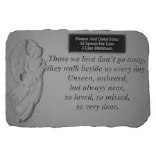 engraved memorial stones angel garden with custom engraving memorial gallery