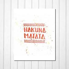 hakuna matata disney lion king lettering red orange modern