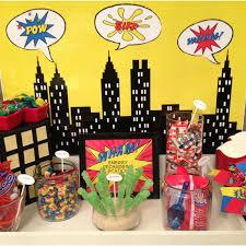 Superhero Backdrop 10 Awesome Superhero Birthday Ideas Simonemadeit Com