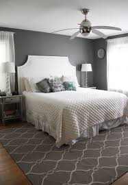 Bedrooms With Grey Walls by Engaging Grey Accents Wall Paint For Bedroom With White Bed Set