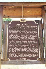 Ontario Mills Map Wisconsin Historical Markers Marker 510 Dells Mill
