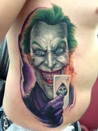dads joker tattoo 10 hour sitting done by diego mickey south