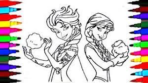 draw u0026 color frozen elsa princess drawing u0026