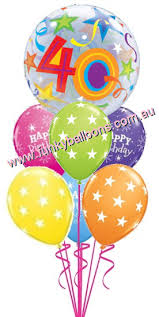 40th birthday delivery 40th birthday funky balloons brisbane qld helium balloon gift