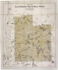 Canada National Parks Map by Algonquin National Park Map 1893 Aylen Lake Canada U2022 Mappery