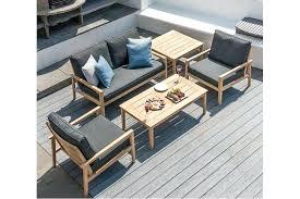 canapé d extérieur pas cher salon de jardin en bois pas cher bois dessus bois dessous coussin