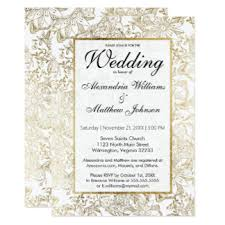 gold wedding invitations gold and white wedding invitations announcements zazzle