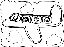 airplane coloring pages free printable page for toddlers preschool