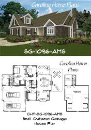 small craftsman cottage house plan compact yet spacious with 1096
