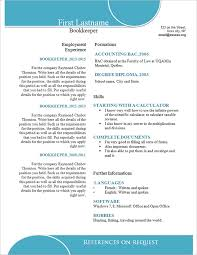 Bookkeeper Resume Samples by Simple Resume Template U2013 39 Free Samples Examples Format