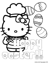 kitty chef pie eggs easter coloring pages printable