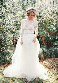 romantic see through tulle lace beach wedding dress with sleeves