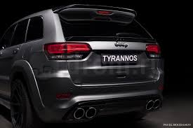 srt jeep 2016 white tyrannos jeep grand cherokee srt8 emerges in russia video