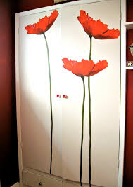 giant flower wall decals transforamation project using wall