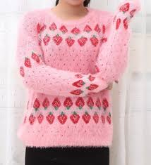 strawberry sweater lovely mohair