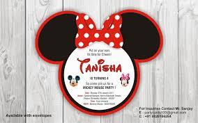 minnie mouse birthday invitation cards ideas minnie mouse 1st
