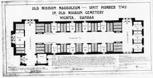 mission floor plans blueprint records old mission mausoleum page of david g