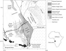 Angola Map Regional Restoration Across The Kwanza Basin Angola Salt