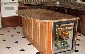 round island kitchen white stone tile floor light iron floor lamp