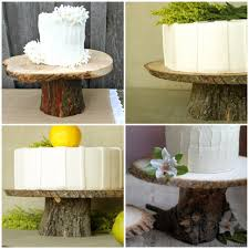 tree stump cake stand rustic wood cake stands a diy glitter inc